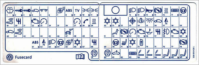 vw fox fuse box diagram vw wiring diagrams online
